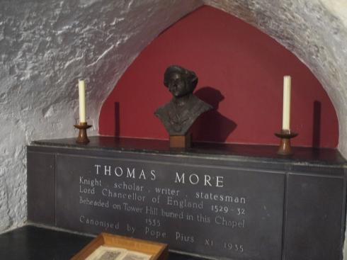 Here lies the bones of Sir Thomas More, now Saint Thomas More.